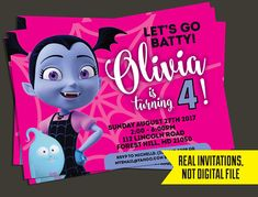 Vampirina Invitation Vampirina Birthday InvitationPrinted