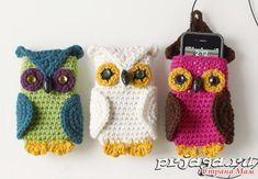 Owl Crochet Phone Case (SO CUTE but website in Russian & translation doesn't help)