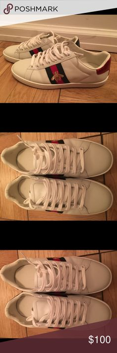 Gucci white tennis sneakers Very chic sneakers from Gucci, excellent conditions, come with original shoe box Gucci Shoes Sneakers
