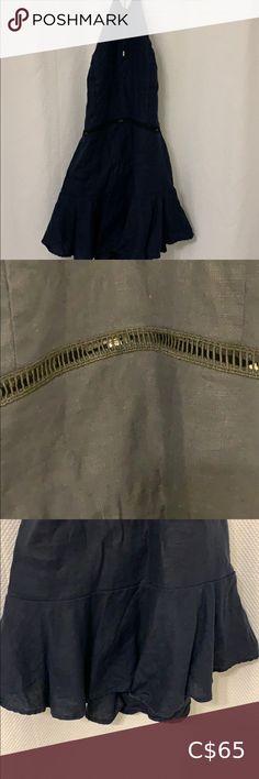 Linen Dress Navy beautiful linen dress so tiny Karina Grimaldi Dresses Mini Columbia Sportswear, Plus Fashion, Fashion Tips, Fashion Trends, Lord & Taylor, Pink Sweater, Silk Dress, Black Suede