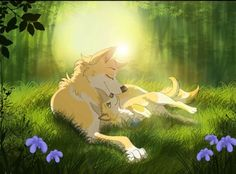 Anime wolf and her pup Big Cats Art, Furry Art, Cat Art, Anime Wolf Drawing, Cartoon Wolf, Fantasy Wolf, Fantasy Art, Fox Images, Wolf Pup