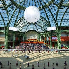 On March 16 -18th, Hermes will stage the third Saut Hermes show jumping competition at the Grand Palais in Paris. Over three days, the world's finest horsemen and women will demonstrate their skill under the great glass roof the Grand Palais (the site of many Chanel runway presentations).