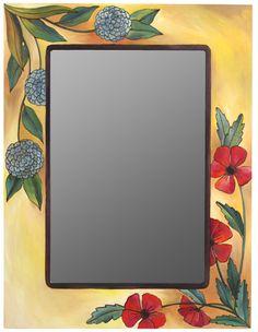 Floral Mirror, Sticks, $653