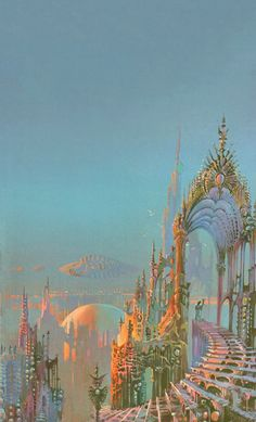 Tales from Weirdland Fantasy Art Landscapes, Fantasy Landscape, Aesthetic Art, Aesthetic Pictures, Visionary Art, Retro Futurism, Psychedelic Art, Pretty Art, Surreal Art