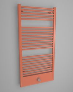 SATIN VALVE: Artistic bathroom towel radiator. Coloured radiator HOTHOT - available in 216 colours. White towel rails, red towel warmers, green towel radiators. A part of this ladder radiator is a thermostatic head and valve. Central heating radiator. Available into 4 weeks.