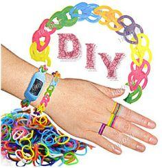 DIY #Mix Color Silicon Bracelet Kit #Rainbow Loom Braided Wrist Band Wristlet Wristband for Children http://www.tinydeal.com/es/mix-color-diy-silicon-loom-bracelet-kit-p-119592.html