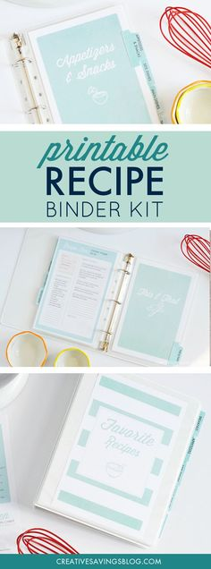 I am in LOVE with this recipe binder to organize my recipes! It literally saved my sanity, and to think—I put this project off so long because I was too overwhelmed! I'm not joking when I say I had dozens of cookbooks and loose papers sticking out everywh