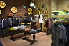 Ted Baker Glasgow, Shop Interior by Prop Studios, pinned by Ton van der Veer