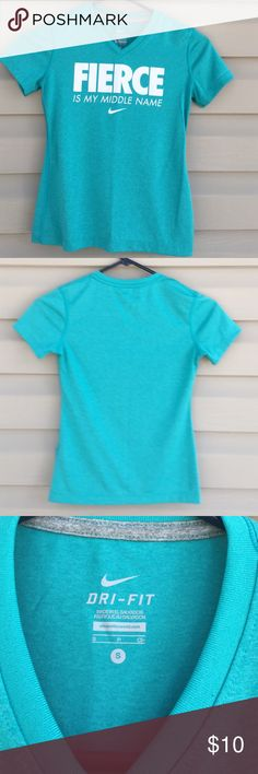 Nike women's shirt Short sleeve dri-fit v- neck women's shirt 100% polyester no holes or stains Nike Tops Tees - Short Sleeve