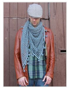 mens crochet shawl / scarf...I don't like this in a man but I would love this on me
