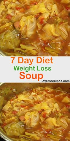 7 Day Diet Weight Loss Soup day diet weight loss so - Easy Detox Cleanse soup cabbage chicken soup cabbage crockpot soup cabbage diet plans soup cabbage fat burning soup cabbage healthy soup cabbage instant pot Cabbage Fat Burning Soup, Cabbage Diet, Cabbage Soup Recipes, Diet Soup Recipes, Vegetable Soup Recipes, Cooking Recipes, Healthy Recipes, Cabbage Roll, Weight Watchers Cabbage Soup Recipe