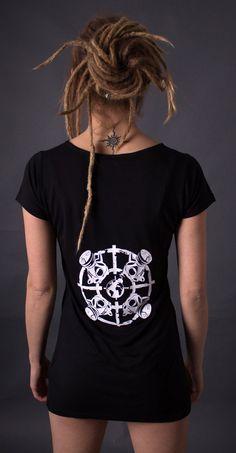 Ladies Slinky T - Gasmask Urbane Mode, Lady, Sleeves, Style, Silk Screen Printing, Textiles
