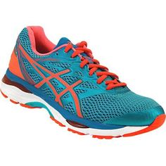 37d63a607738 Asics Gel Cumulus 18 Running Shoes - Womens Aquarium Flash Coral Blue Jewel