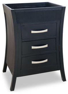 Lyn Design Van032 Black Vanity Traditional Bathroom Vanities And