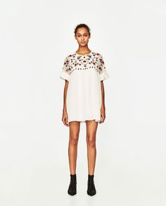 Image 1 of EMBROIDERED JUMPSUIT DRESS from Zara