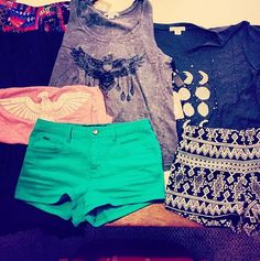 I love the tops but not the shorts. They're cute but are a little too short for me.
