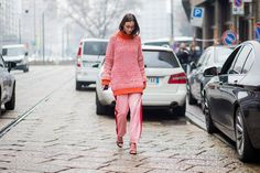 Milan Street Style Is All Gucci, Gucci, & More Gucci  #refinery29 http://www.refinery29.com/2017/02/142356/milan-fashion-week-street-style-fall-2017-photos#slide-6