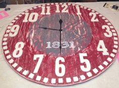 3' wood clock. Roll Tide.
