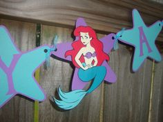 Ariel Birthday Banner PERSONALIZED by LittleDawgDesigns on Etsy, $30.00