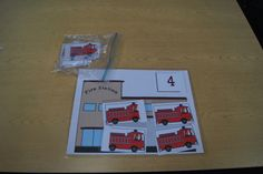 This was a really cute center that I found here.  The kids put the correct amount of fire trucks in the fire station.
