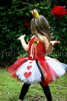 Large Queen Of Hearts Tutu Costume  $90