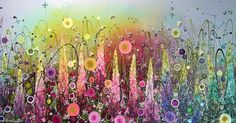 Leanne Christie Art Flower Paintings Glitter Rainbows