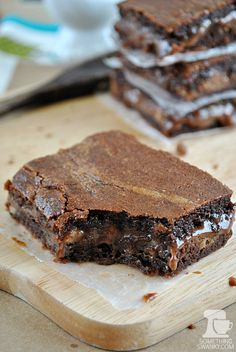 Better Than Anything #Caramel Stuffed #Brownies