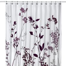 """Reflections 72"""" x 72"""" Purple Fabric Shower Curtain - Bed Bath & Beyond"""