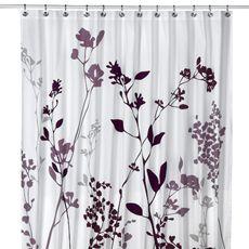 "Reflections 72"" x 72"" Purple Fabric Shower Curtain - Family Bathroom"
