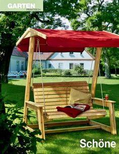 DIY Garden Swing - Outdoor Furniture Plans