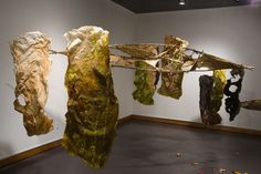 Emily Cook - hand papermaking artist - installation - sculptural
