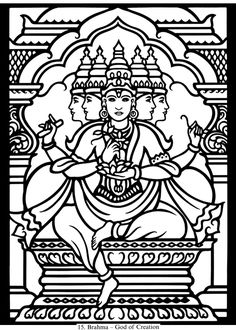 Brahma: Hindu Gods and Goddesses Stained Glass Coloring Book by Dover Publishingcome to Dover Publications