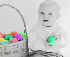 Easter baby boy photo