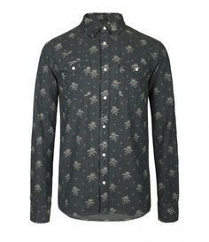 Allsaints Eulogy Shirt, Nevada Blue