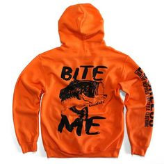 Bite Me Blaze Orange Hoodie - Luckless Outfitters - Country - Apparel - Music - Clothing - Redneck - Girl - Women - www.lucklessclothing.com - Matt - Ford Parody - Concert - She Wants the D - Lets Get Dirty - Mud Run - Mudding -