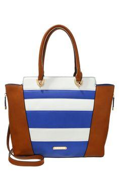 LYDC London Handtasche brown/blue von  in saddlebrown - Sattelbraun für 52,45€