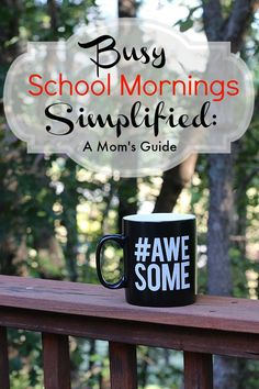 Tired of stressful school mornings?  These easy tips are sure to simplify your routine! #FallBacktoSchool #ad