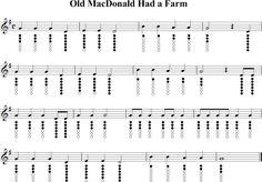 Old MacDonald Had a Farm Sheet Music for Tin Whistle