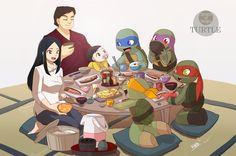Breakfast of HAMATO family | TMNT 2012