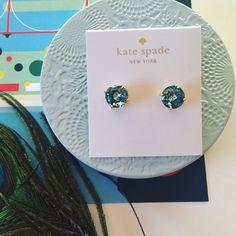 Kate Spade Gumdrop earring 14k gold plated, post back for pierce earring. 8mm approx. kate spade Jewelry Earrings