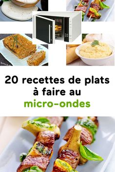 20 recettes de plats à faire au micro-ondes Microwave Recipes, Food And Drink, Menu, Chicken, Vegetables, Ethnic Recipes, Health, Micro Minute, Foie Gras