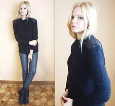 Zara Sweater, Ny Pants, Ny Boots, Timex Watch