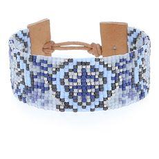 Purple Mix Bead Cuff Bracelet