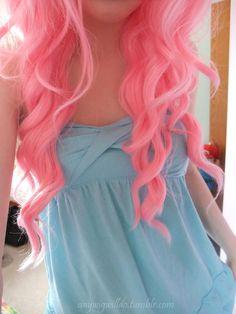 super cute bright pink hair