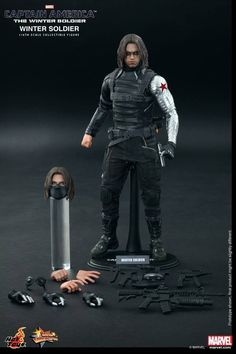 HOT TOYS 1/6 MMS241 CAPTAIN AMERICA THE WINTER SOLDIER  BUCKY BARNES FIGURE #HotToys