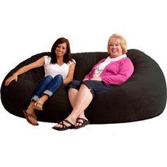 $149 XXL 7' Fuf Comfort Suede Bean Bag, Multiple Colors