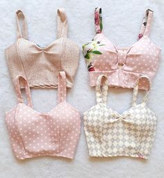 Cute Fashion, Diy Fashion, Ideias Fashion, Fashion Outfits, Crop Top Outfits, Trendy Outfits, Cute Outfits, Sewing Clothes, Diy Clothes
