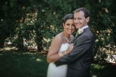 Matt Shumate Photography at Lawson Gardens outdoor summer wedding portrait bride and groom happy and smiling