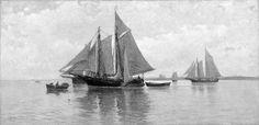 Calm in Gloucester Harbor  Carlton Theodore Chapman