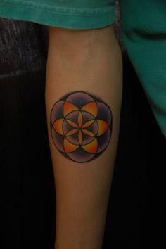 Geomotric Seed Of Life Tattoo - Bayside Tattoo, Traverse City Tattoo Shop